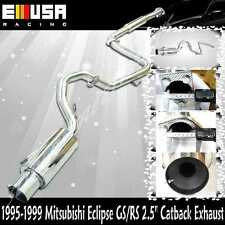"""1995-1999 MITSUBISHI ECLIPSE GS/RS 2.5"""" CATBACK EXHAUST NEW"""