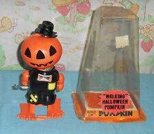vintage wind-up DURHAM WALKING HALLOWEEN PUMPKIN ROBOT scarecrow