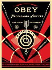 "Propaganda Eye Services Silk Screen Print Shepard Fairey Signed 18"" x 24"" OBEY"