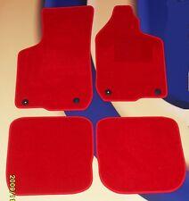 SEAT LEON 05 - 09 +  FR & CUPRA.  BRIGHT RED QUALITY CARPET  + 4 X CLIPS B