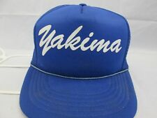 Vtg. 70's 80's Yakima Washington Trucker snapback blue hat mesh hipster cap
