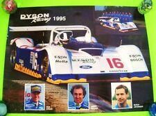"RARE Original 1995 DYSON RACING TEAM F-1 AUTO RACE POSTER 24"" X 18"" Xlnt+"