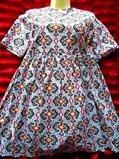 DITSY RETRO PRINT RECLAIMED VINTAGE ASOS DOLLY DAY DRESS  SIZE 14 100% COTTON