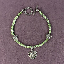 GREEN MAN BRACELET Picasso Beads Nature Spirit Tree Face Leaf Pagan Celtic Wicca