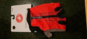 Red / Black Castelli TEMPO Cycling Gloves mitts Size Medium