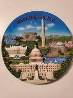 """3D Washington DC Collector 7.5"""" Wall Hanging Plate Collectible Souvenir"""