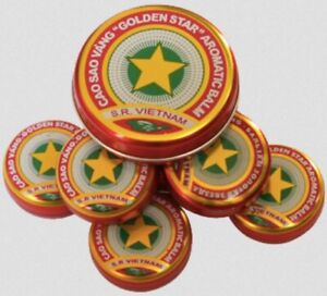 10 Packs: Golden Star Aromatic Balm (3g) - Natural Remedy Essential Oils