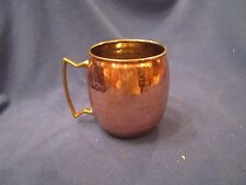 Copper Dimpled Mug Cup Smooth Finish 16oz ODI Old Dutch International Solid