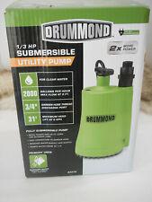 Pump Water 13 Hp Submersible Sump Pump 2000 Gph 63318 Nos