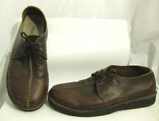AMERICAN EAGLE OUTFITTERS OXFORD SPLIT-TOE SHOES BROWN LEATHER CREPE MENS SZ 10