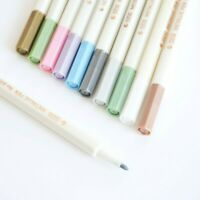 STA Metallic Marker Waterproof 10 Colours 1mm Bullet or Brush Point Tip - UK!