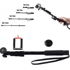 Aluminium alloy Bluetooth Selfie Stick Pole for Phones Camera Gopro Hero 5 Black