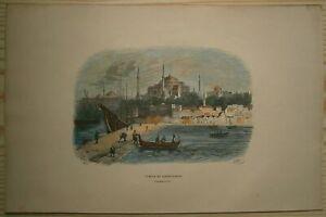 1843 Breton print HAGIA SOPHIA, ISTANBUL, TURKEY (#113)