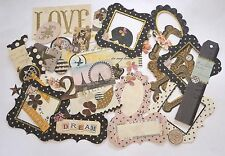 SCRAPBOOKING NO 460 - 35 Elegant Die Cut Items and Frames - Antique Look -Craft