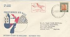 AVIATION : 1953 CHRISTCHURCH-AMSTERDAM flight - commemorative cover