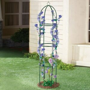 6 Foot Tall Elegant Metal Green Finish Domed Garden Plant Trellis