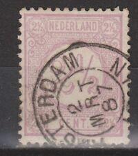 NVPH Netherlands Nederland nr 33 TOP CANCEL AMSTERDAM Cijfer 1876