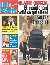 ▬►ICI PARIS 2621 (1995) JOHNY HALLYDAY_MARILYN MONROE_INDRA_CHANTAL GOYA