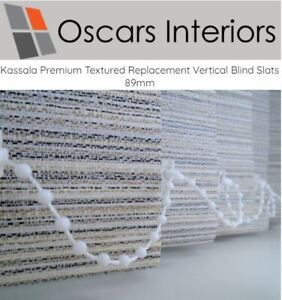 """Kassala Luxurious Made To Measure Vertical Blind Replacement Slats 3.5"""" 89mm"""