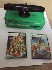 2 Xbox 360 Kinect Games *Tested*  And A Kinect Without Adapter *Not Tested*