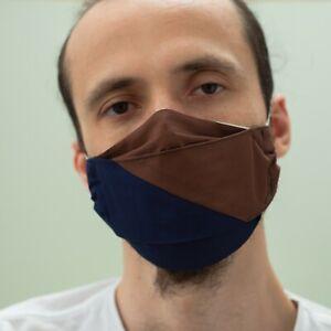 Face Mask Design Stylish Blue Hygiene Washable Reusable Cotton Fashion Mouth