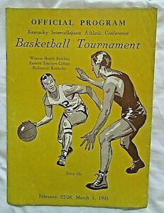 1941 Kentucky I.A.C. Basketball Tournament Program ~ Louisville, Georgetown, etc