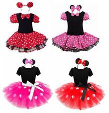Minnie Mouse Girls Kids Party Halloween Cosplay Costume Tutu Dress Up + Headband