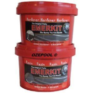 Emerkit® 2.1KG total A&B Epoxy Putty TRADE TUB Pool/Spa/Builders Underwater 2