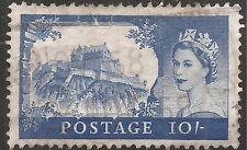 """Great Britain Stamp - Scott #311/A133 10sh Bright Ultra """"Edinburgh"""" Canc/Lh 1955"""