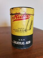 Nice Old Hulco Salicylic Acid Advertising Grocery Container Not Tin Can