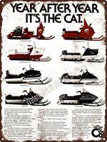 """1975 ARCTIC CAT Tiger Snowmobile 100 500 Puma Garage Shop Metal Sign 9x12"""" A241"""