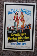 GENTLEMEN PREFER BLONDES Lobby Card Movie Poster MARILYN MONROE JANE RUSSELL
