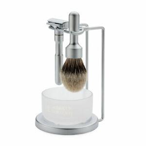 Merkur Futur Double Edge Safety Razor Shaving Set - Shaving Brush and Soap Bowl