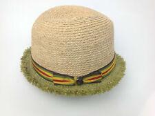 $98 Raffaello Bettini Bloomingdales Straw Hat Natural Green Size Medium Italy