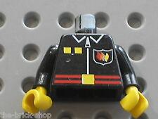 Minifig buste personnage LEGO POMPIER Fireman Torso 973p78 / set 6554 6407 6571