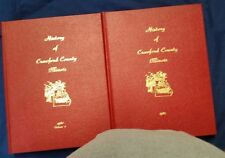 The History of Crawford County, Illinois  Vol 1 & 2  Robinson, Palestine Oblong