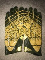 NEW 2016 TEAM ISSUED NOTRE DAME FOOTBALL SHAMROCK SERIES UNDER ARMOUR GLOVES 3XL