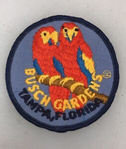 Busch Gardens Parrot Parrothead Parrots Travel Anheuser Embroidered Iron On