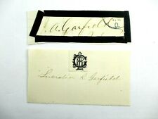 James A. Garfield 20th President Signature Autograph Plus Wife in Plastic Sleeve