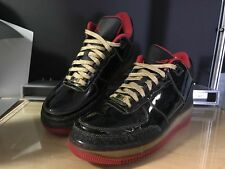 Nike Air Jordan AFJ III 3 Fusion Premier Shoes Black Gold Red Rare Size10
