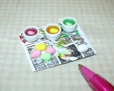 Miniature Adinolfi Dying Dye Easter Eggs Set Pink, Yell. Green DOLLHOUSE 1/12
