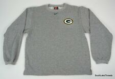 VTG 90s Boys Nike Green Bay Packers Crew Neck Sweatshirt Sz XL Embroidered Logos