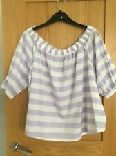 Marks & Spencer Off Shoulder Ladies Cotton Top size 20 BNWT