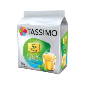 TASSIMO Tea Time Green Tea & Mint Tea T Discs Pods16/32/48/80 Drinks