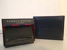 Tommy Hilfiger Men's Trifold & Valet Wallet Black Genuine Leather New In Box