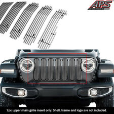 Fits 2018-2020 Jeep Wrangler JL Only Vertical Chrome Billet Grille Insert
