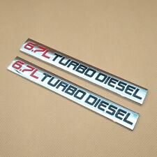 2Pcs Metal Chrome Car Emblem Red & Black 6.7L TURBO DIESEL Badge Sport Sticker