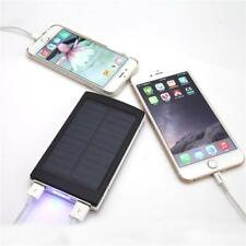cargador solar doble usb para telefonos celulares y tablet power bank * bateria-