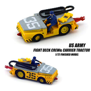 US ARMY Fight Deck Crew & Carrier Tractor W/1 figures 1/72 FINISHED CAR MODEL