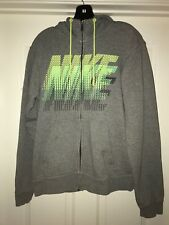 Nike Air Grey & Neon Zip Up Hoodie Hooded Sweater Women's/Juniors Size Medium